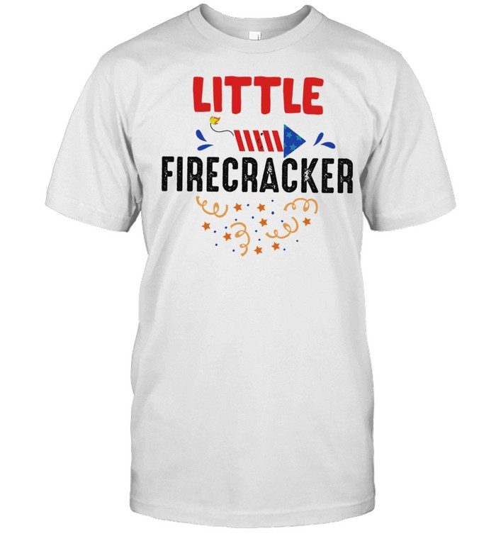 Mama Of A Little Firecracker Matching 4th Of July Independence Day shirt Classic Men's T-shirt