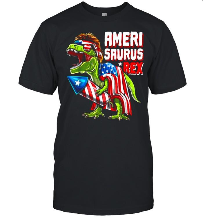 AMERISAURUS Dinosaur T rex 4th of July independence T- Classic Men's T-shirt