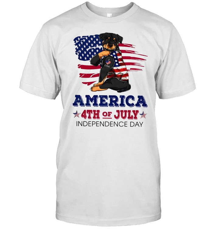 Rottweiler Tattoo American 4th Of July Independence Day American Flag shirt Classic Men's T-shirt