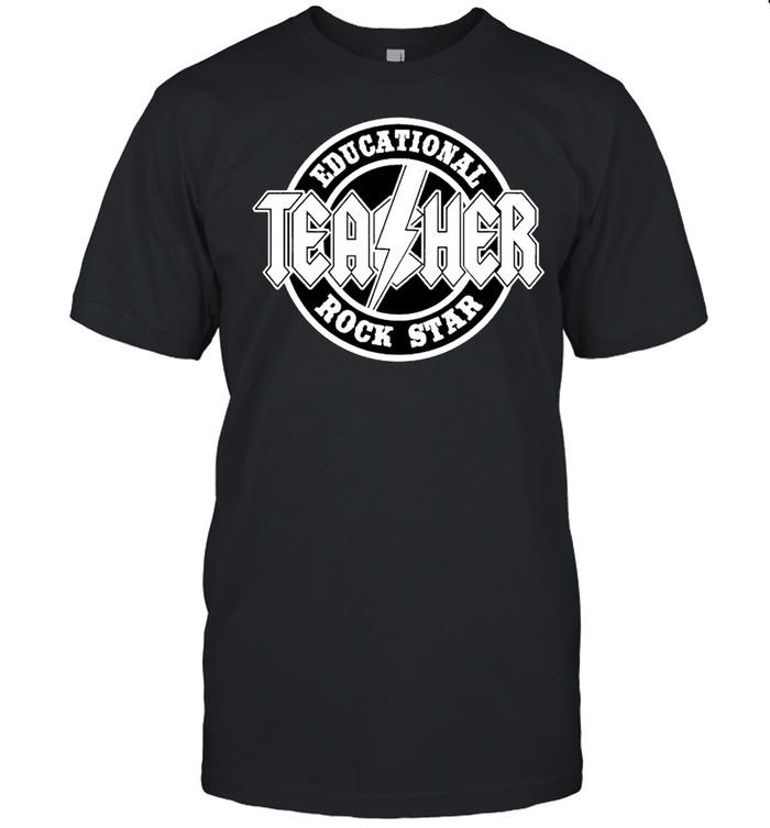 Educational rock star teacher shirt Classic Men's T-shirt
