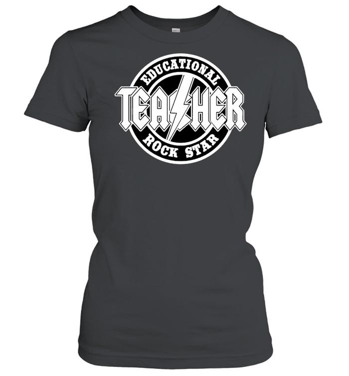 Educational rock star teacher shirt Classic Women's T-shirt