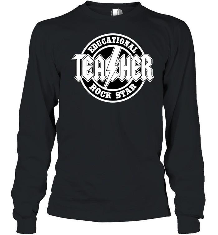 Educational rock star teacher shirt Long Sleeved T-shirt