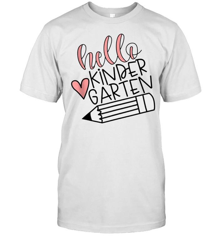 Hello Kindergarten School Year Saying shirt Classic Men's T-shirt