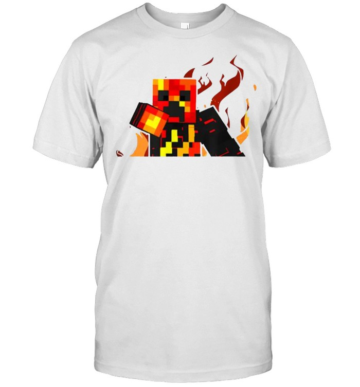 The Gaming Firer Behind With Fire Gamer Style T- Classic Men's T-shirt