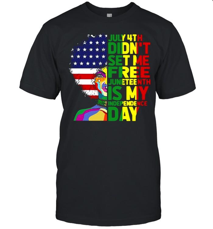 Juneteenth Dashiki American Flag Black Women Independence T-shirt Classic Men's T-shirt
