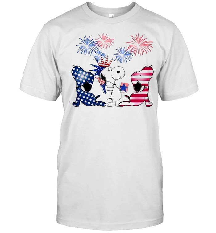 snoopy american 4th july independence day shirt Classic Men's T-shirt