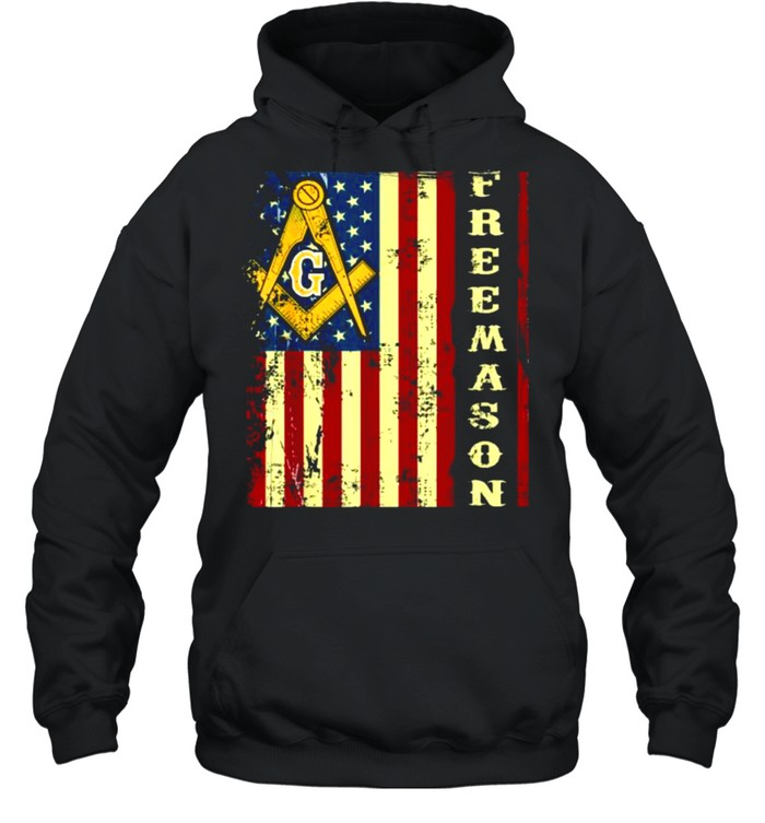 Freemason US Flag 4th of July Independence Parents' Day T- Unisex Hoodie