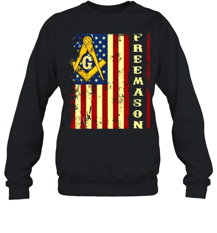Freemason US Flag 4th of July Independence Parents' Day T- Unisex Sweatshirt