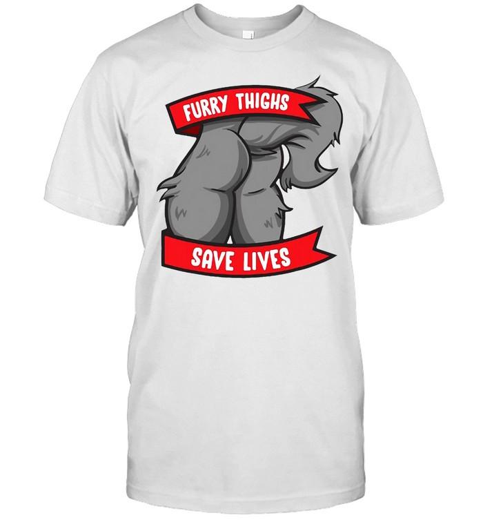 Wolf Furry Thighs Save Lives Proud Furry Pride Fandom T-shirt Classic Men's T-shirt