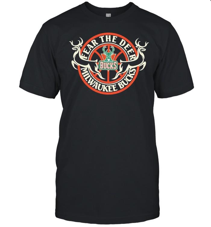 Fear the deer milwaukee bucks nba 2021 shirt Classic Men's T-shirt