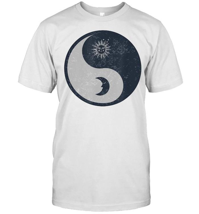 Meditation Yin Yang Sun Moon Distressed T-shirt Classic Men's T-shirt