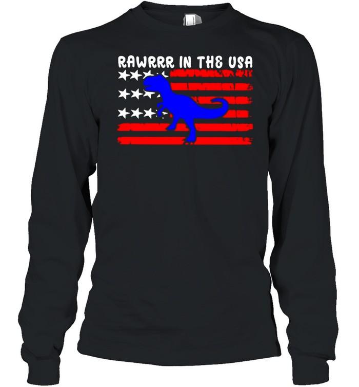 Rawrrr in the USA 4th july shirt Long Sleeved T-shirt