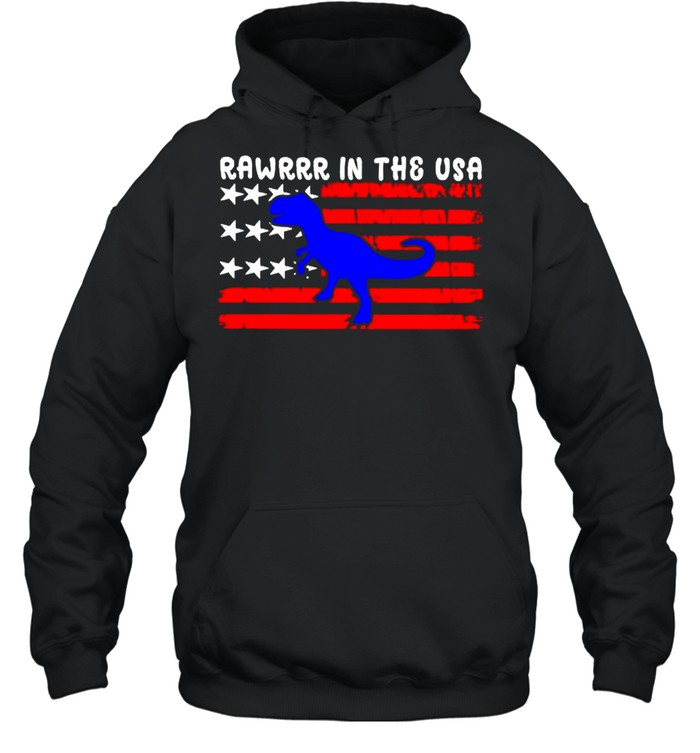 Rawrrr in the USA 4th july shirt Unisex Hoodie