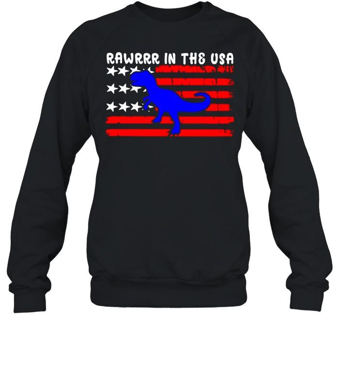 Rawrrr in the USA 4th july shirt Unisex Sweatshirt