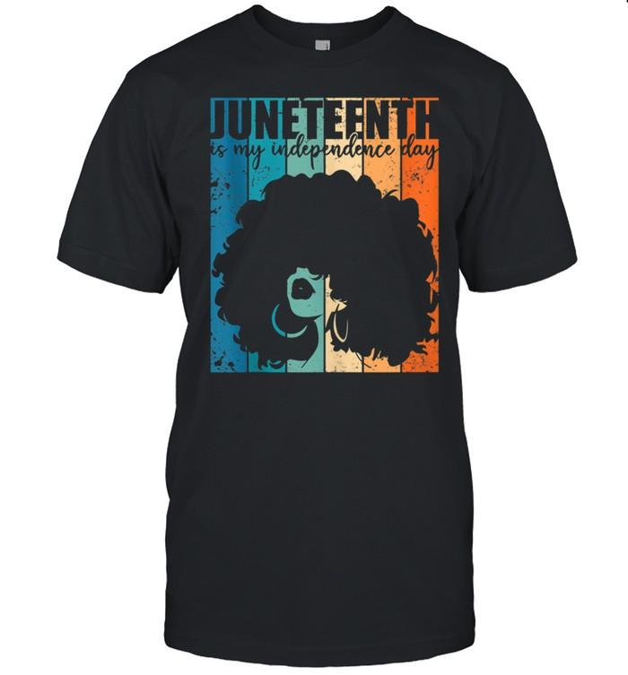 Juneteenth My Independence Day Retro Afro Melanin shirt Classic Men's T-shirt