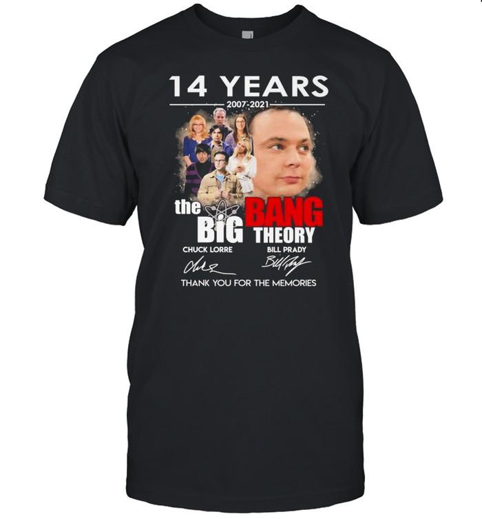 14 years 2007 2021 The Big Bang Theory Chuck Lorre Bill Prady signatures shirt Classic Men's T-shirt