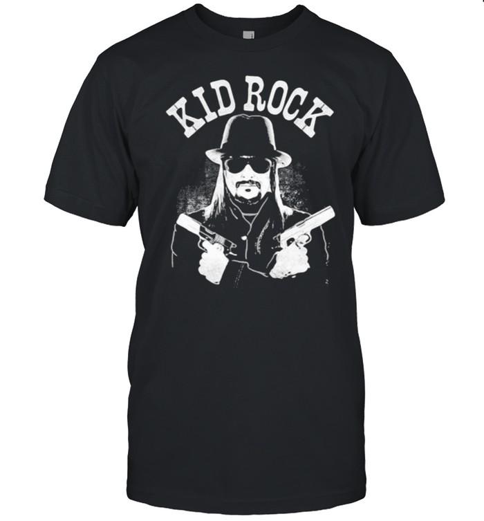 Kid Rock Crossed Guns T-shirt Classic Men's T-shirt