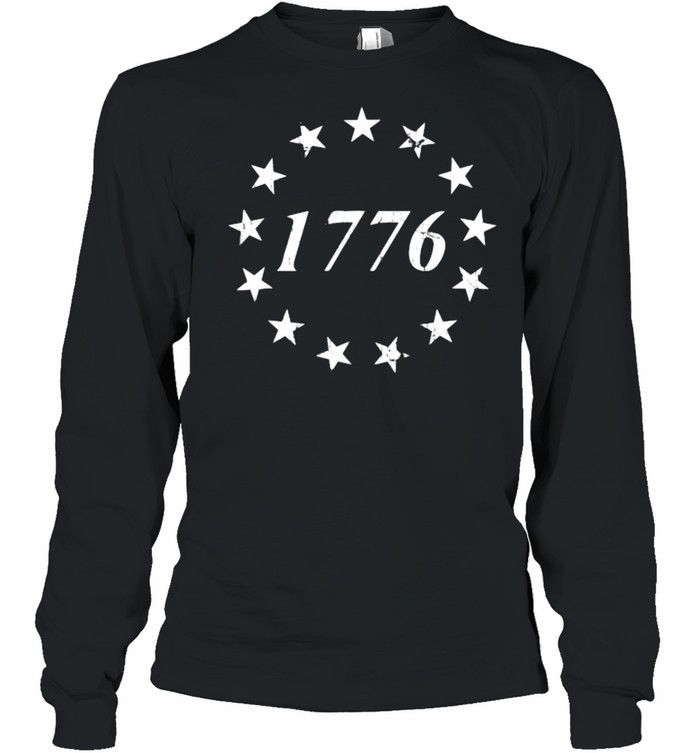 1776 Betsy Ross Flag Independence Day Long Sleeved T-shirt