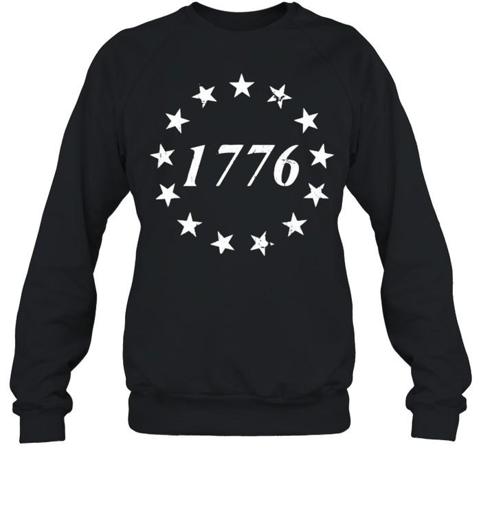 1776 Betsy Ross Flag Independence Day Unisex Sweatshirt