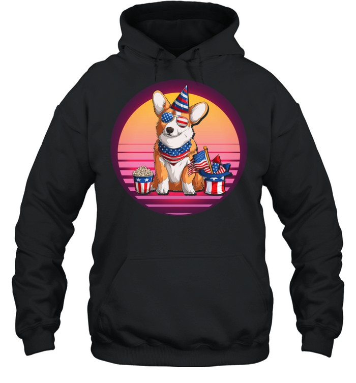 Dog 4th of July American Patriotic independence day shirt Unisex Hoodie