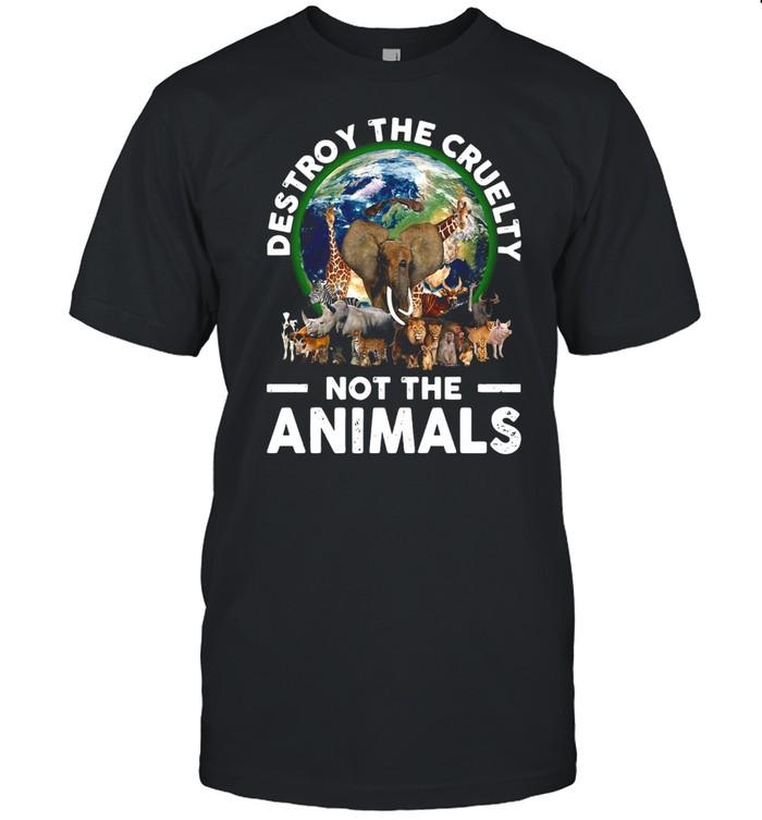 Destroy The Cruelty Not The Animals T-shirt Classic Men's T-shirt