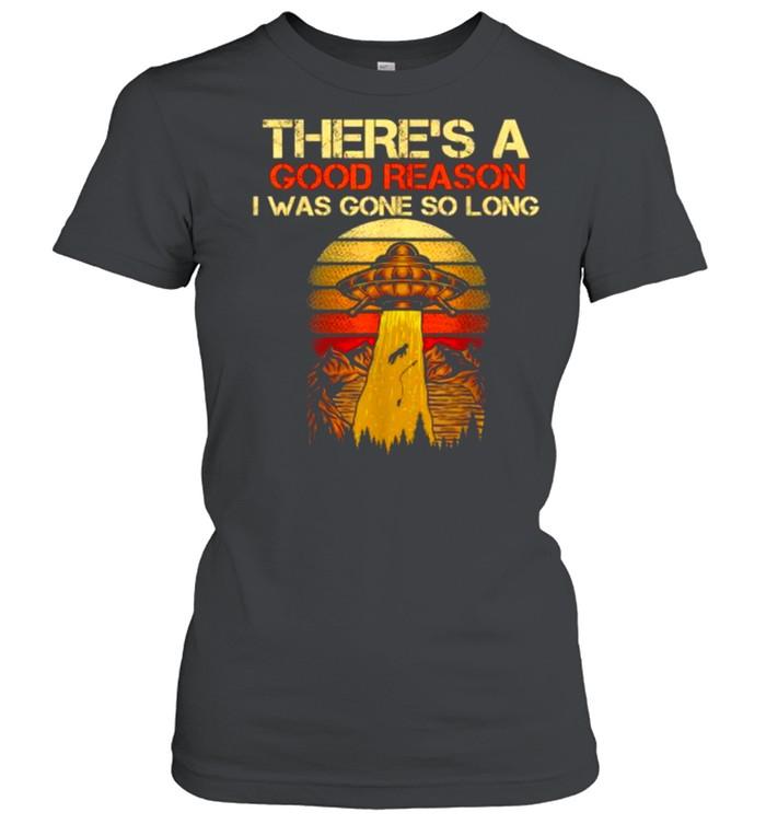 Fishing UFO Alien Abduction Fisherman T- Classic Women's T-shirt