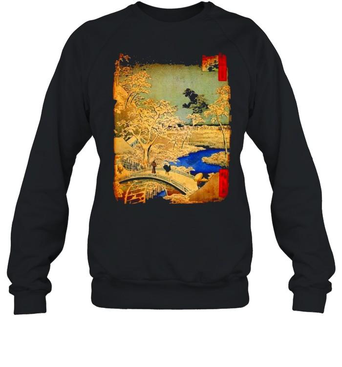 Godzilla and Meguro Drum Bridge  Unisex Sweatshirt