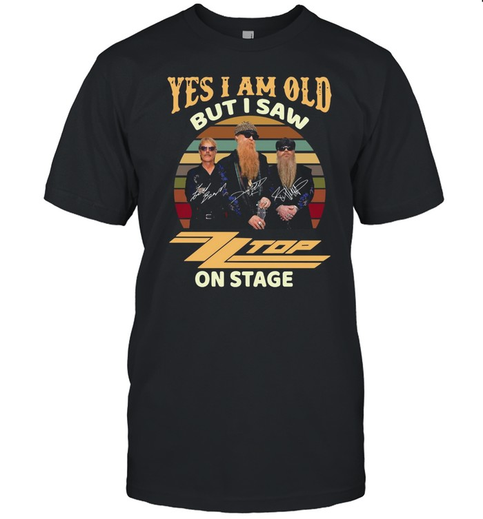 Yes I Am Old But I Saw ZZ Top On Stage Vintage Retro T-shirt Classic Men's T-shirt