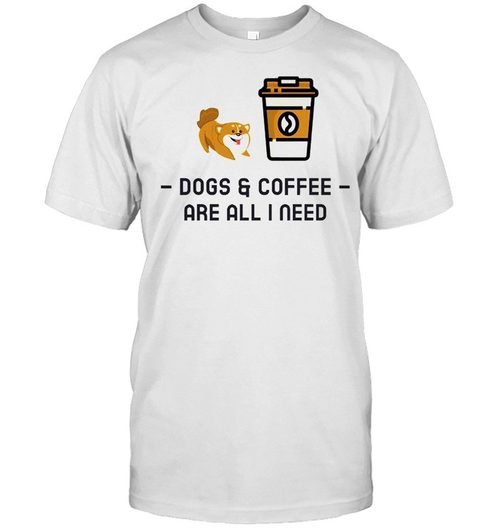 Dogs and coffee are all I need shirt Classic Men's T-shirt