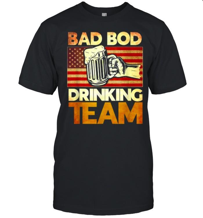 Bad Bod Drinking Team American Flag T- Classic Men's T-shirt