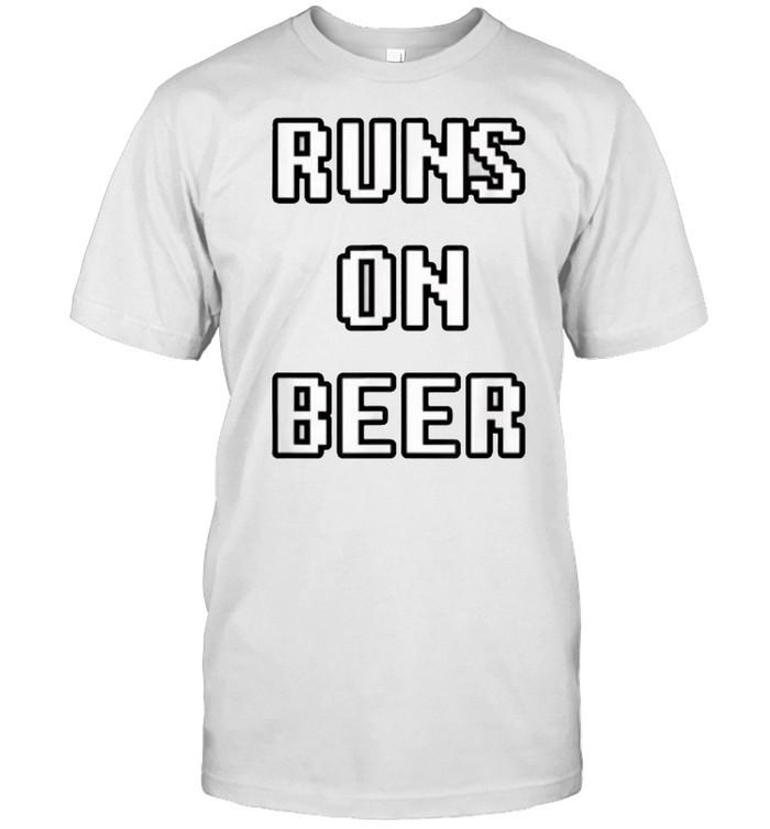 Runs on Beer T- Classic Men's T-shirt