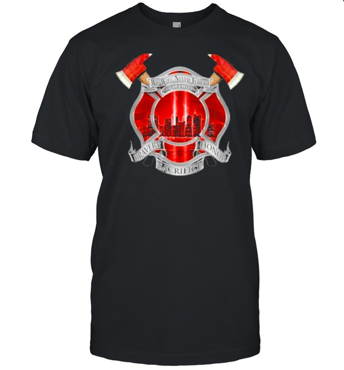 Nice we Will Never Forget 9-11 Memorial Firefighter 20th anniversary  Classic Men's T-shirt