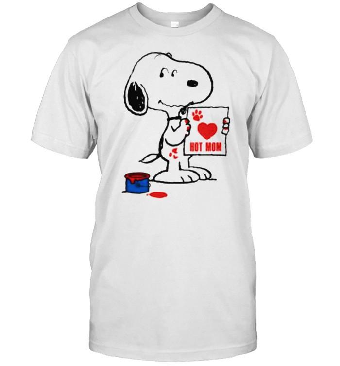 hot Mom Snoopy Draw  Classic Men's T-shirt