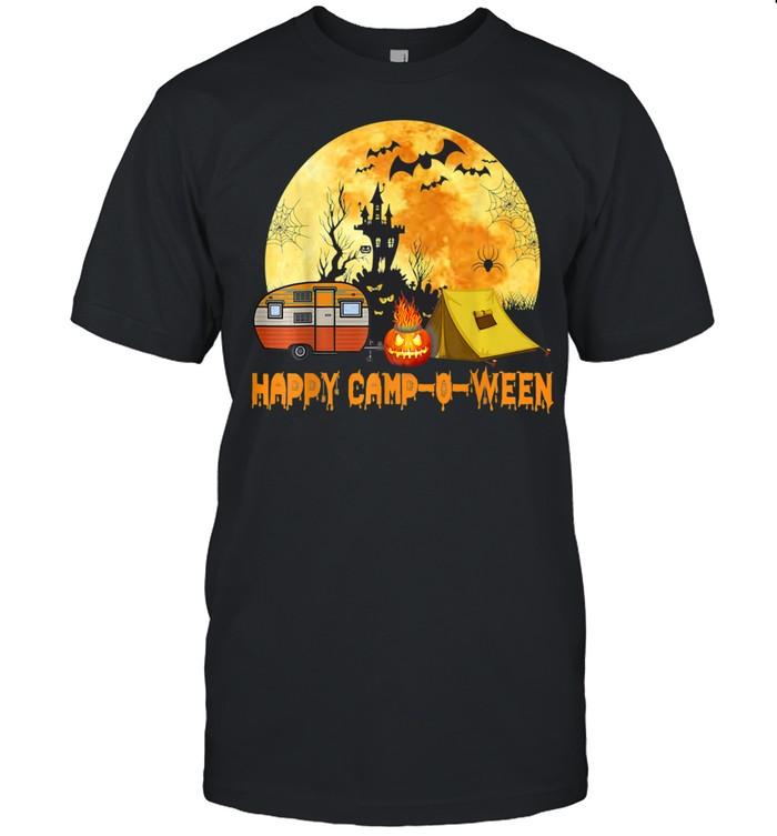 Happy Camp O Ween Camper Halloween Camping Halloween shirt Classic Men's T-shirt