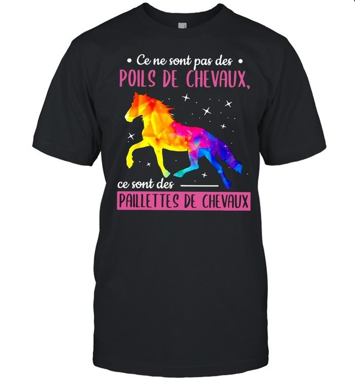 Horse Ce Ne Sont Pas Des Poils De Chevaux Ce Sont Des Paillettes De Chevaux T-shirt Classic Men's T-shirt