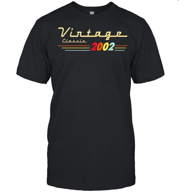 Vintage Classic 2002 19 Years Old Birthday 19th Birthday  Classic Men's T-shirt