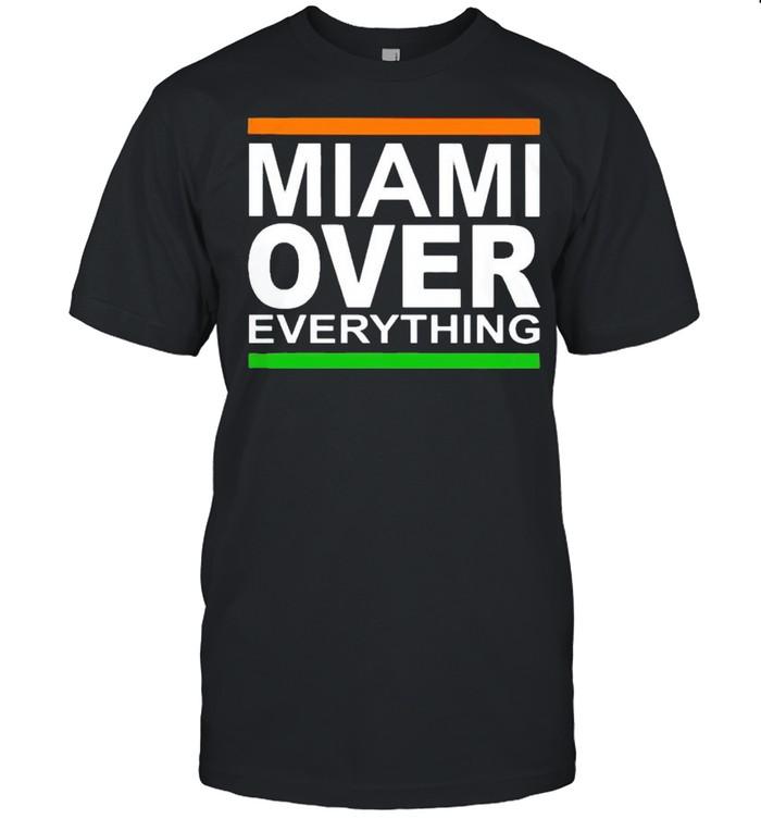 David Cooney Miami Hurricanes over everything shirt Classic Men's T-shirt