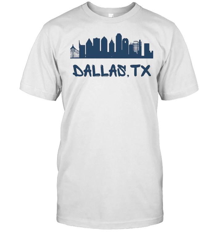Dallas Texas Skyline Tall  Classic Men's T-shirt