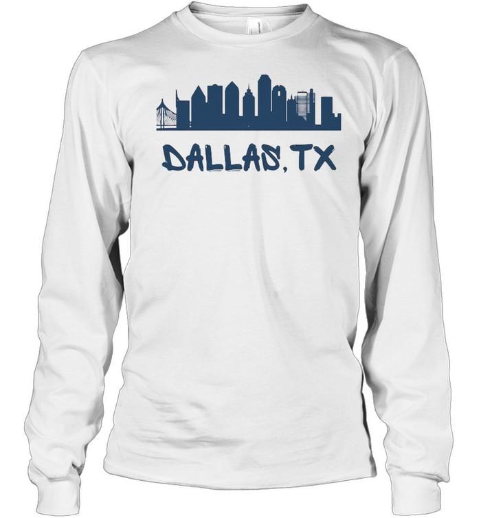 Dallas Texas Skyline Tall  Long Sleeved T-shirt