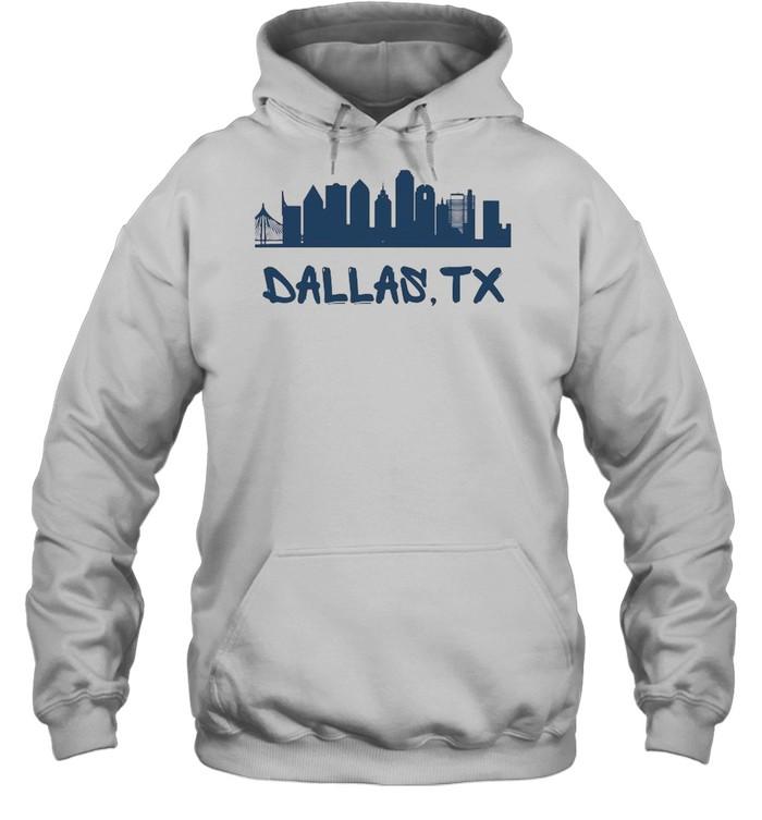 Dallas Texas Skyline Tall  Unisex Hoodie