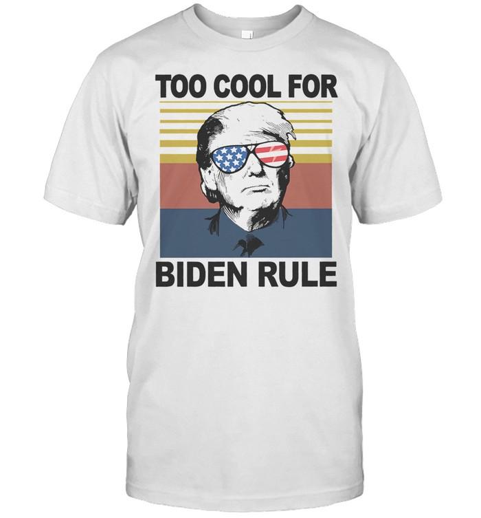 Donald Trump Glasses American flag too cool for Biden rule vintage shirt Classic Men's T-shirt