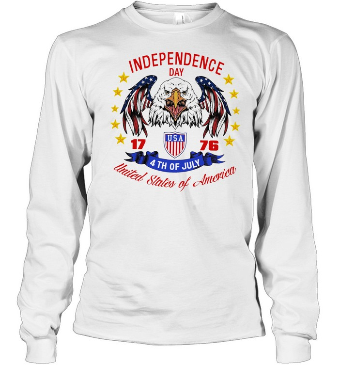 Eagle independence day USA 1776 4th of july united states of America shirt Long Sleeved T-shirt