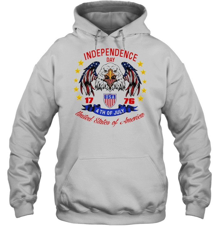 Eagle independence day USA 1776 4th of july united states of America shirt Unisex Hoodie