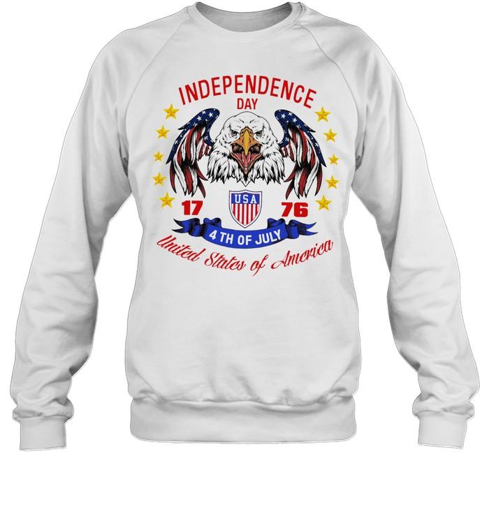 Eagle independence day USA 1776 4th of july united states of America shirt Unisex Sweatshirt