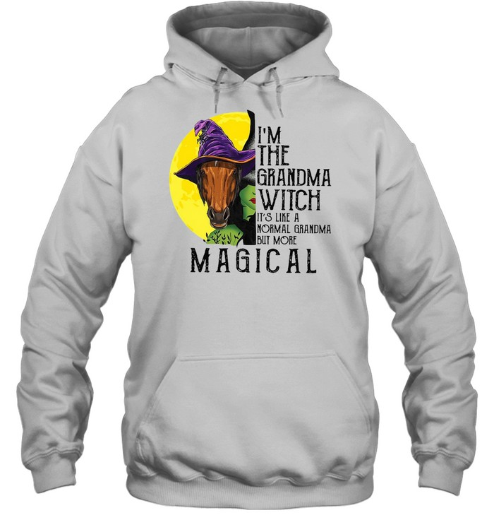 Horse Girl I'm The Grandma Witch It's Like A Normal Grandma But More Magical T-shirt Unisex Hoodie