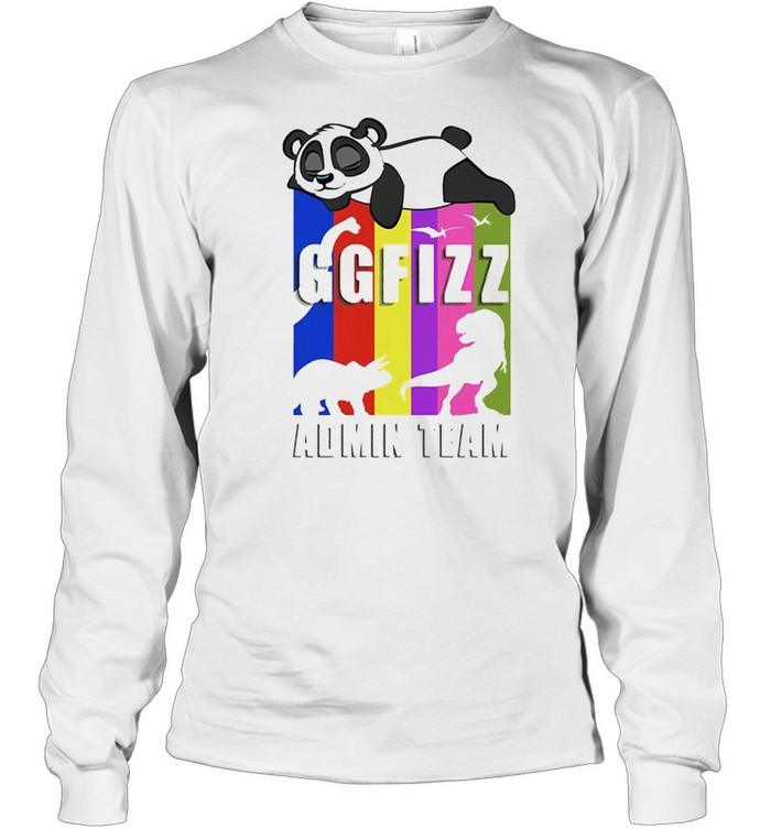 Panda GGFIZZ Admin team shirt Long Sleeved T-shirt