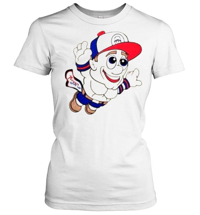 Super Mario WWE John Cena Never Give Up  Classic Women's T-shirt