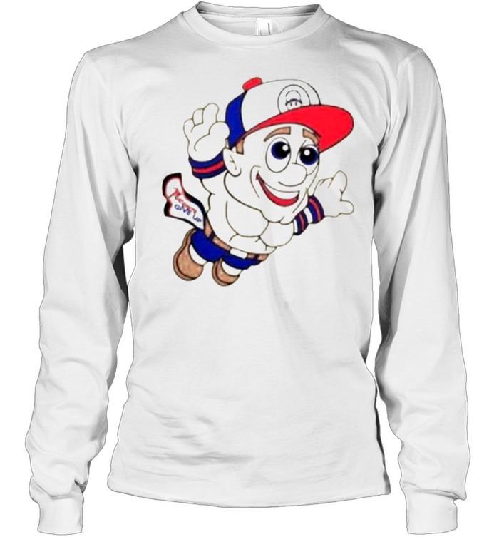 Super Mario WWE John Cena Never Give Up  Long Sleeved T-shirt