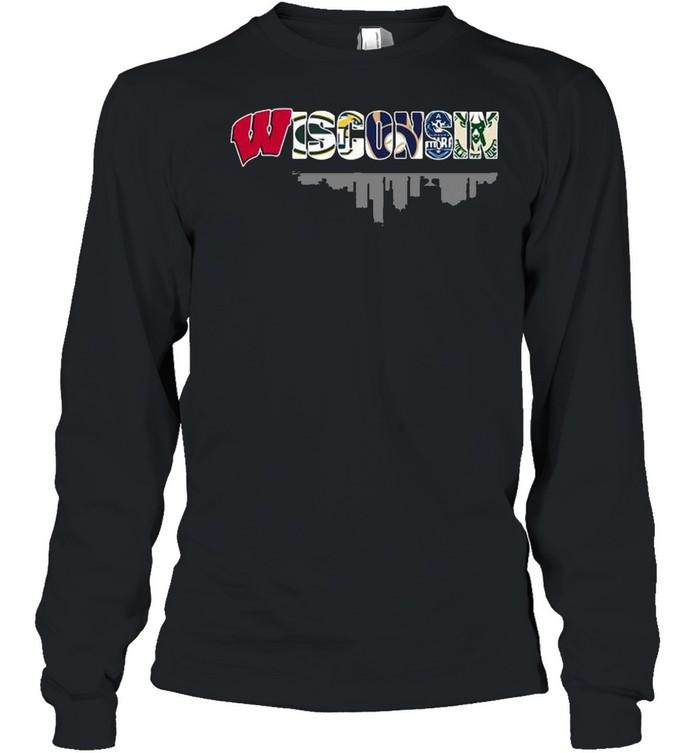 Wisconsin City Wisconsin Badgers Marquette Golden Eagles Milwaukee Brewers Milwaukee Admirals Milwaukee Bucks  Long Sleeved T-shirt