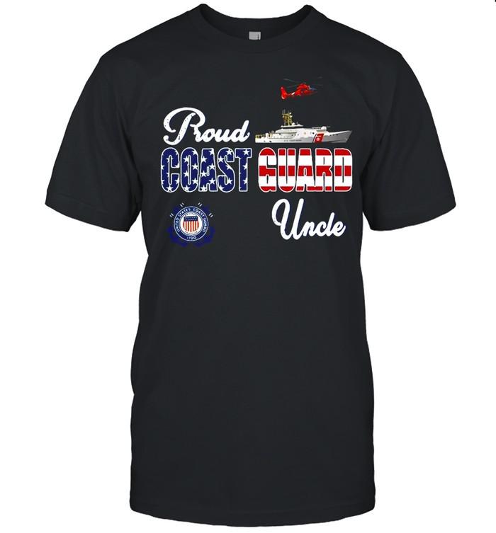 American Flag Military Family Proud Us Coast Guard Uncle T-shirt Classic Men's T-shirt